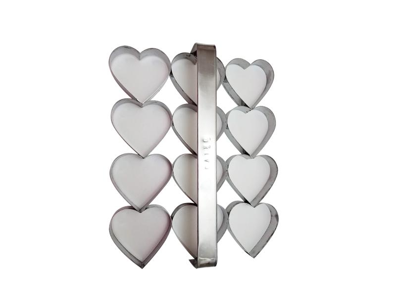 Placa cortante corazón n° 4 por 12 unidades